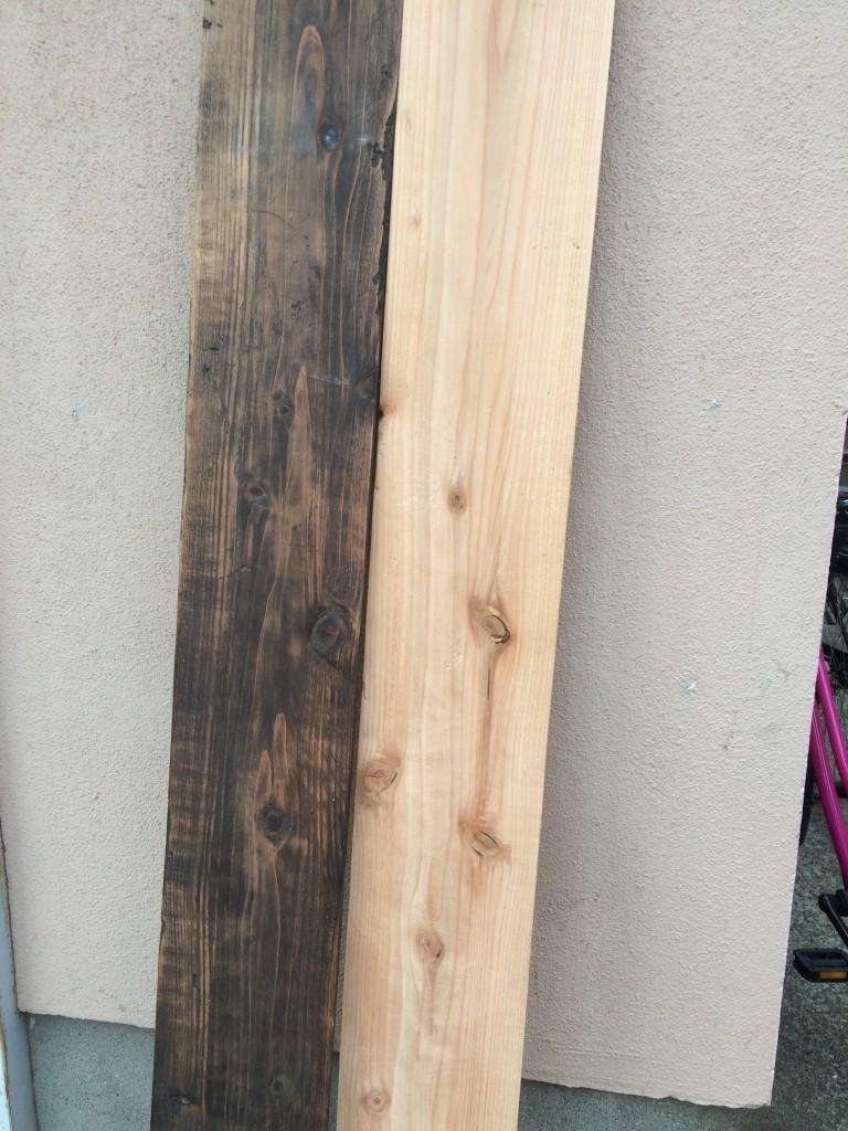 ワトコオイルを杉に塗ってみた