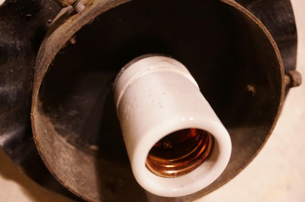 アンティーク陶器ソケット