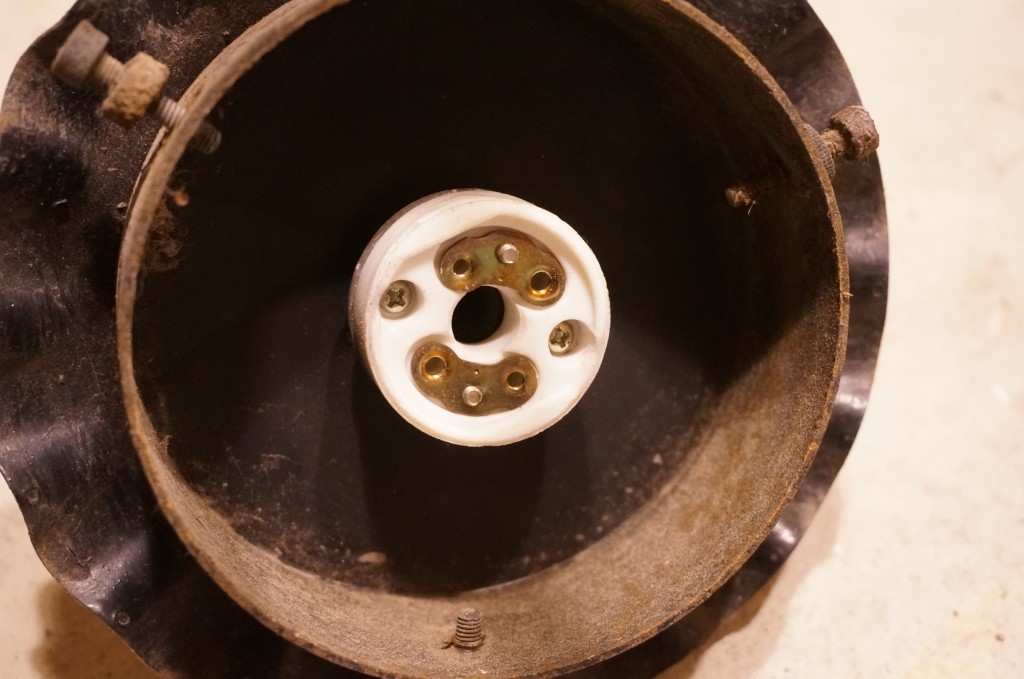 アンティークソケット陶器