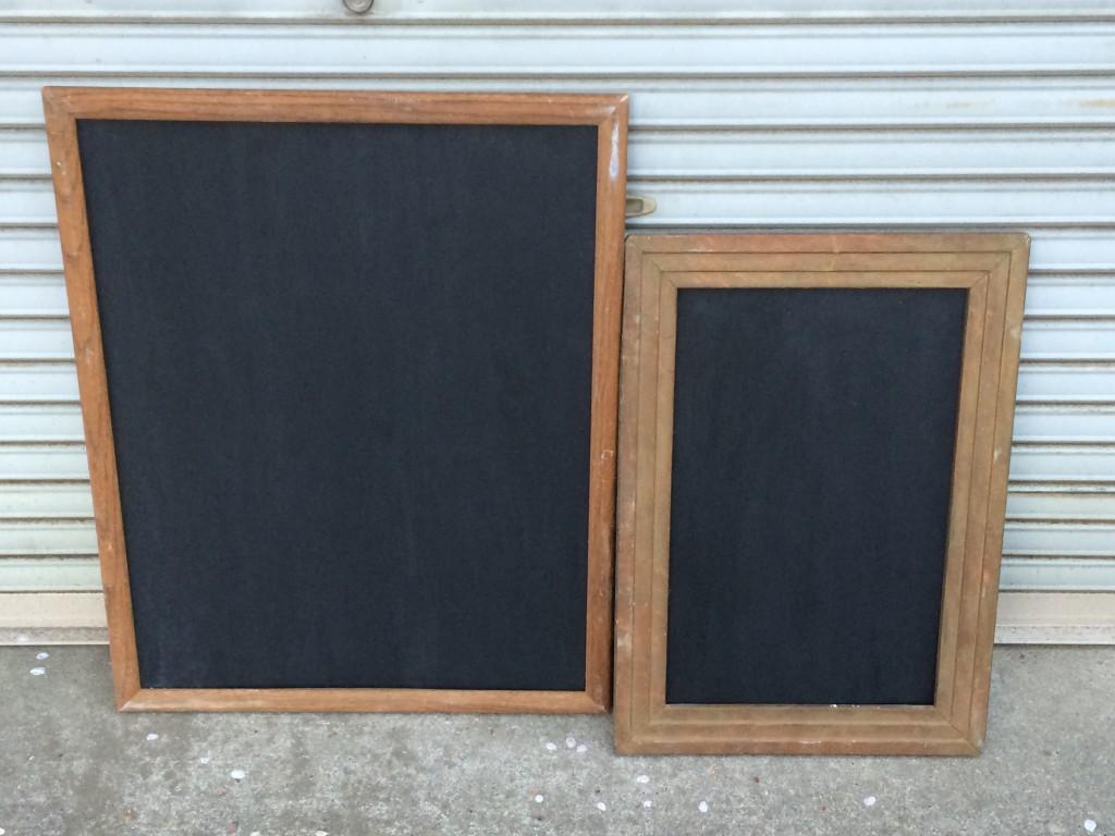 黒板塗料でメニューボード